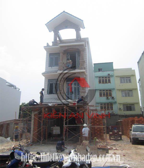 thi công xây dựng nhà phố 3 tầng