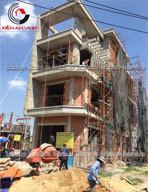 Thi công xây dựng nhà phố 2 mặt tiền