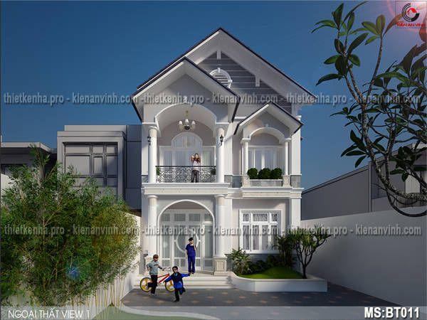 thiết kế biệt thự 1 tầng mái ngói