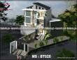 Thiết kế biệt thự phố hiện đại 3 tầng mặt tiền 15m quận Bình Tân MS: BT020