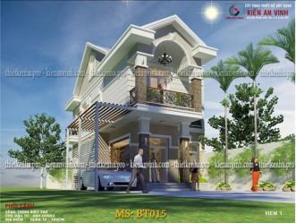 Mẫu thiết kế biệt thự phố mặt tiền 9m tại Gò Vấp MS: BT015