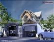 Thiết kế biệt thự đẹp 2 tầng mái ngói mặt tiền 12m MS: BT019