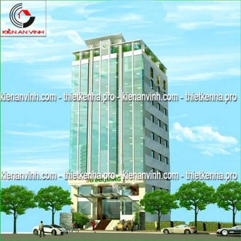 Mẫu thiết kế cao ốc văn phòng 3G Building đẹp