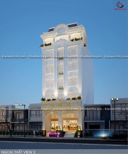 Mẫu thiết kế khách sạn cổ điển
