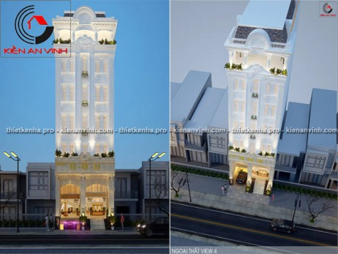 Mẫu thiết kế khách sạn cổ điển đẹp tại Bình Tân