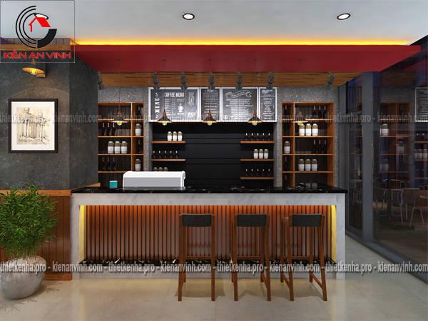 thiết kế nội thất quán cafe
