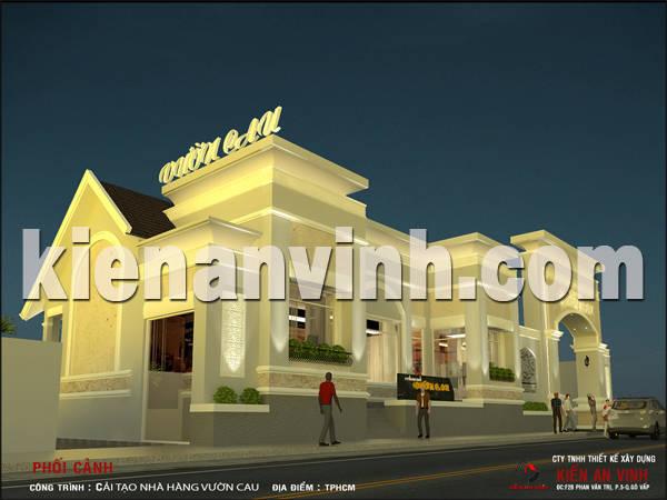 cải tạo nhà hàng Vườn Cau 2