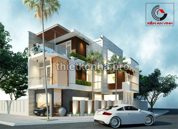 thiết kế nhà phố hai mặt tiền 02
