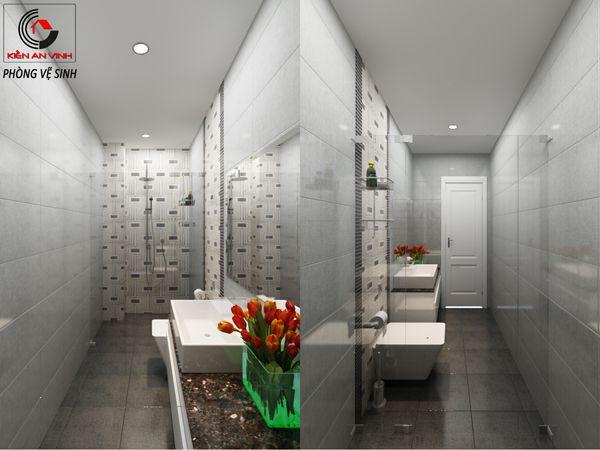 Thiết kế nội thất phòng tắm của mẫu biệt thự đẹp