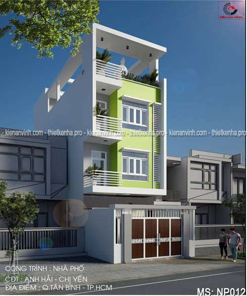 thiết kế nhà phố 3 tầng đẹp