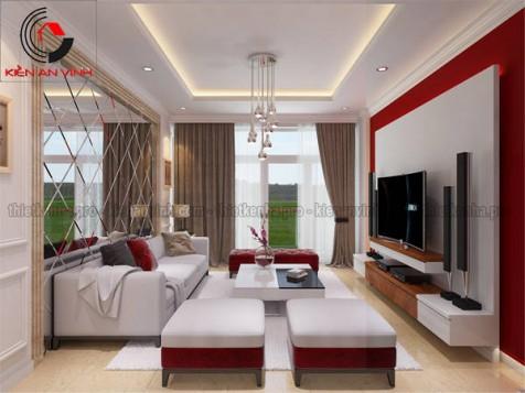 Mẫu thiết kế nội thất phòng khách sang trọng đẹp trong năm 2016