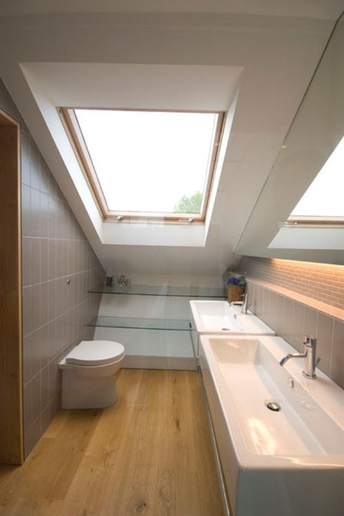 Chiêu hay xử lý phòng tắm nhỏ , méo mó 5