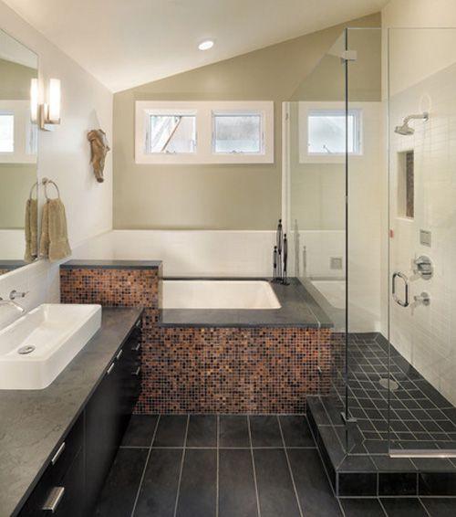 Chiêu hay xử lý phòng tắm nhỏ , méo mó 7