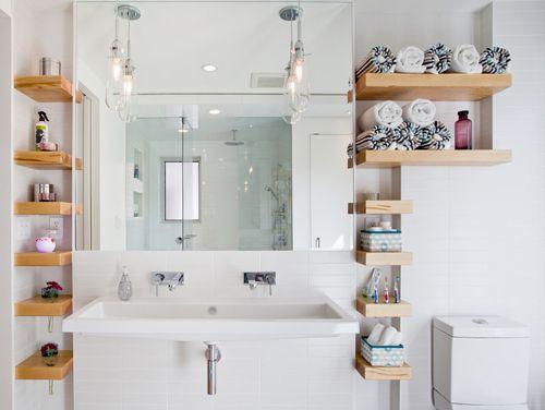 Chiêu hay xử lý phòng tắm nhỏ , méo mó 8