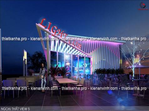 Mẫu thiết kế quán bar Light Club tại Vũng Tàu