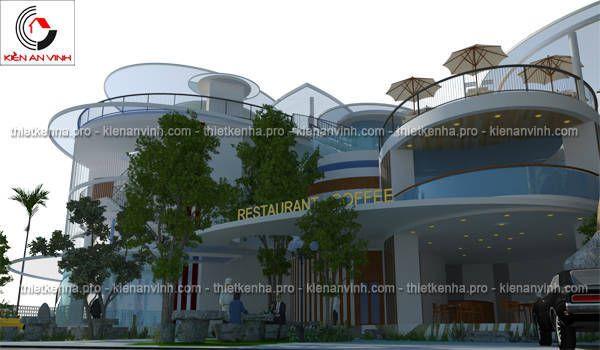 thiết kế quán cafe kết hợp nhà hàng đẹp