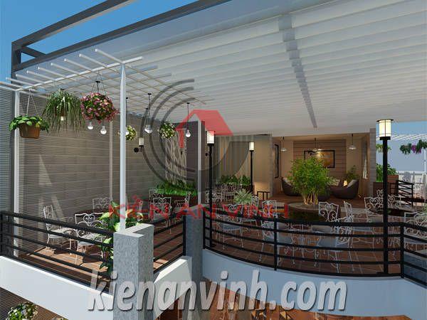 thiết kế quán cafe sân vườn lucky