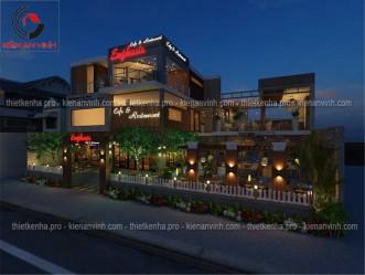 Mẫu thiết kế quán cafe kết hợp với nhà hàng ăn tại Thái Nguyên
