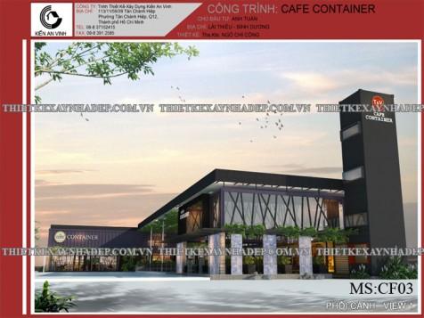 Thiết kế quán cafe container đẹp tại Bình Dương
