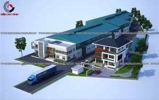Mẫu thiết kế nhà xưởng thép đẹp tại Bình Tân