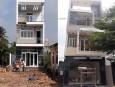 Công trình thi công nhà phố hiện đại đẹp 2 tầng 1 tum