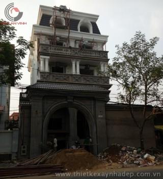 Thi công biệt thự đẹp tại quận Tân Phú - TP.HCM