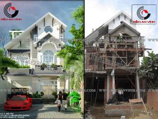 Công trình thiết kế và xây dựng biệt thự Anh Thượng
