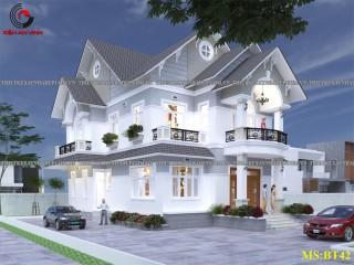 Mẫu kiến trúc thiết kế biệt thự nhà vườn 2 tầng đẹp