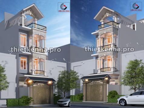 Mẫu thiết kế nhà phố 3 tầng 1 tum đẹp tại Quận 6