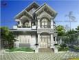 Biệt thự 2 tầng đẹp mái thái phong cách hiện đại