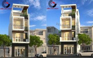 Thiết kế nhà phố 4.5x15m 3 tầng đẹp hiện đại