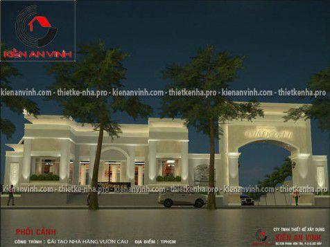 Tư vấn cải tạo nhà hàng Vườn Cau 2 quận Gò Vấp