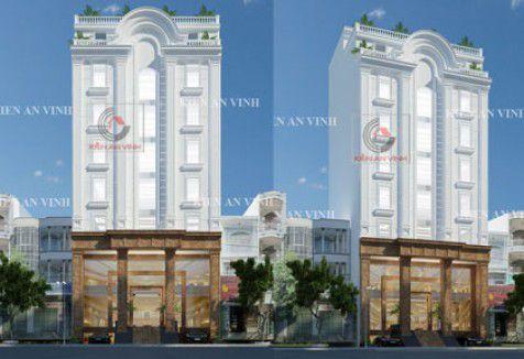 Xây nhà cho thuê 6 tầng bán cổ điển đẹp